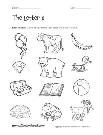 Letter B Worksheets | Pre k worksheets | Pinterest | Imprimibles y ...