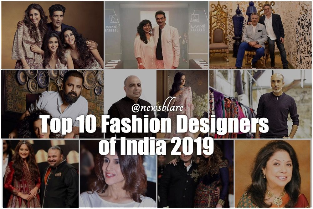 Top 10 Fashion Designers In India Who Have A Major Hand In Carving Top 10 Fashion Designers Top Design Fashion Fashion Design