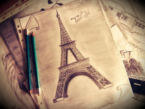 Love Photography Pretty Art Cute Fashion Beautiful Vintage Pencil Dream Imagine City Draw Romance Paris Travel World France Eiffel Sketch Europe Talent