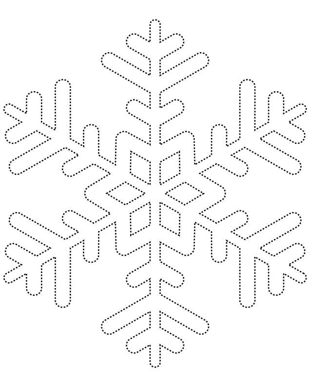 Template for hot glue snowflakes  Crafty ideas  Pinterest