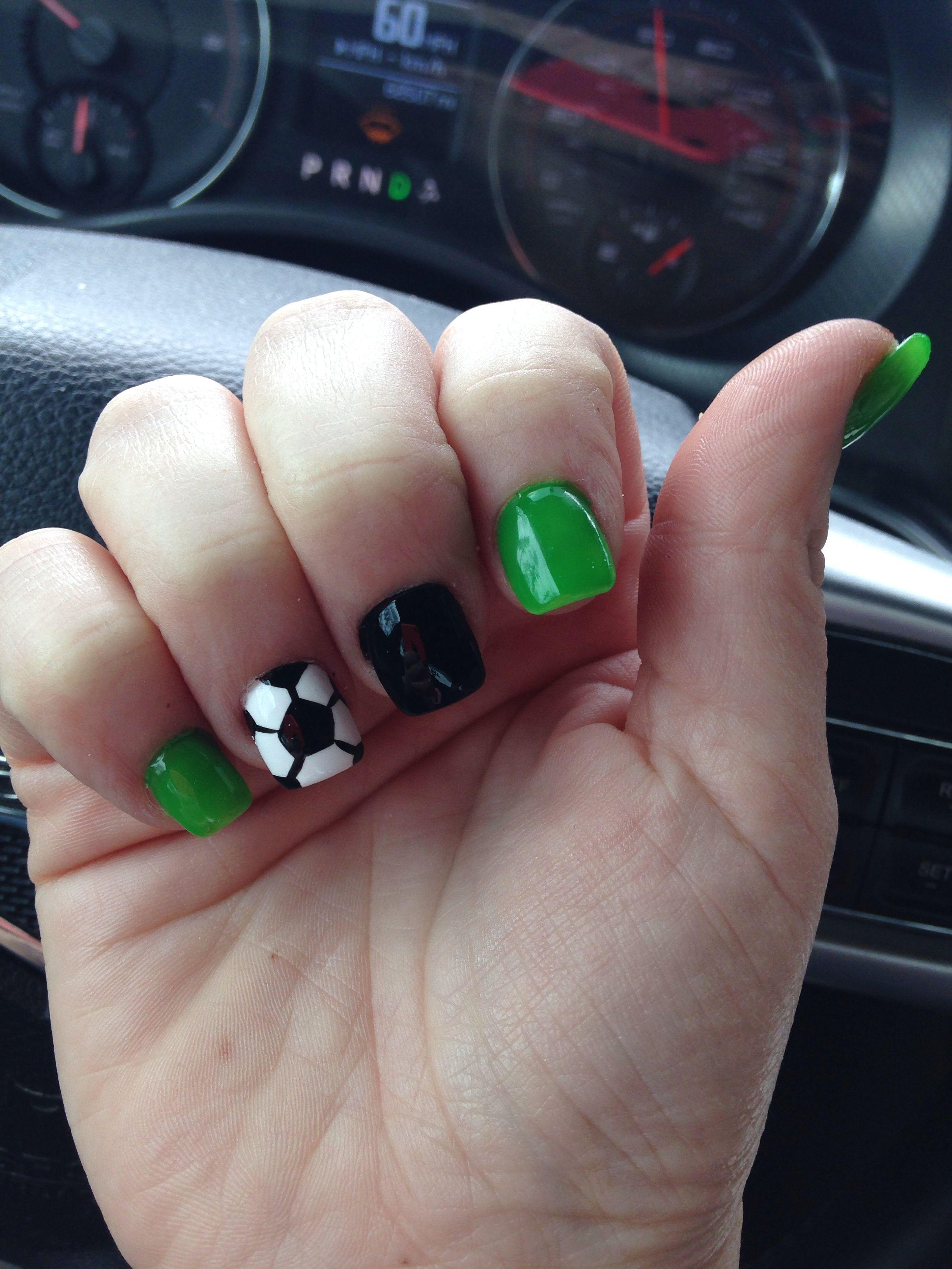 Pin By Blush Concept On Nails Sports Nails Soccer Nails Nails