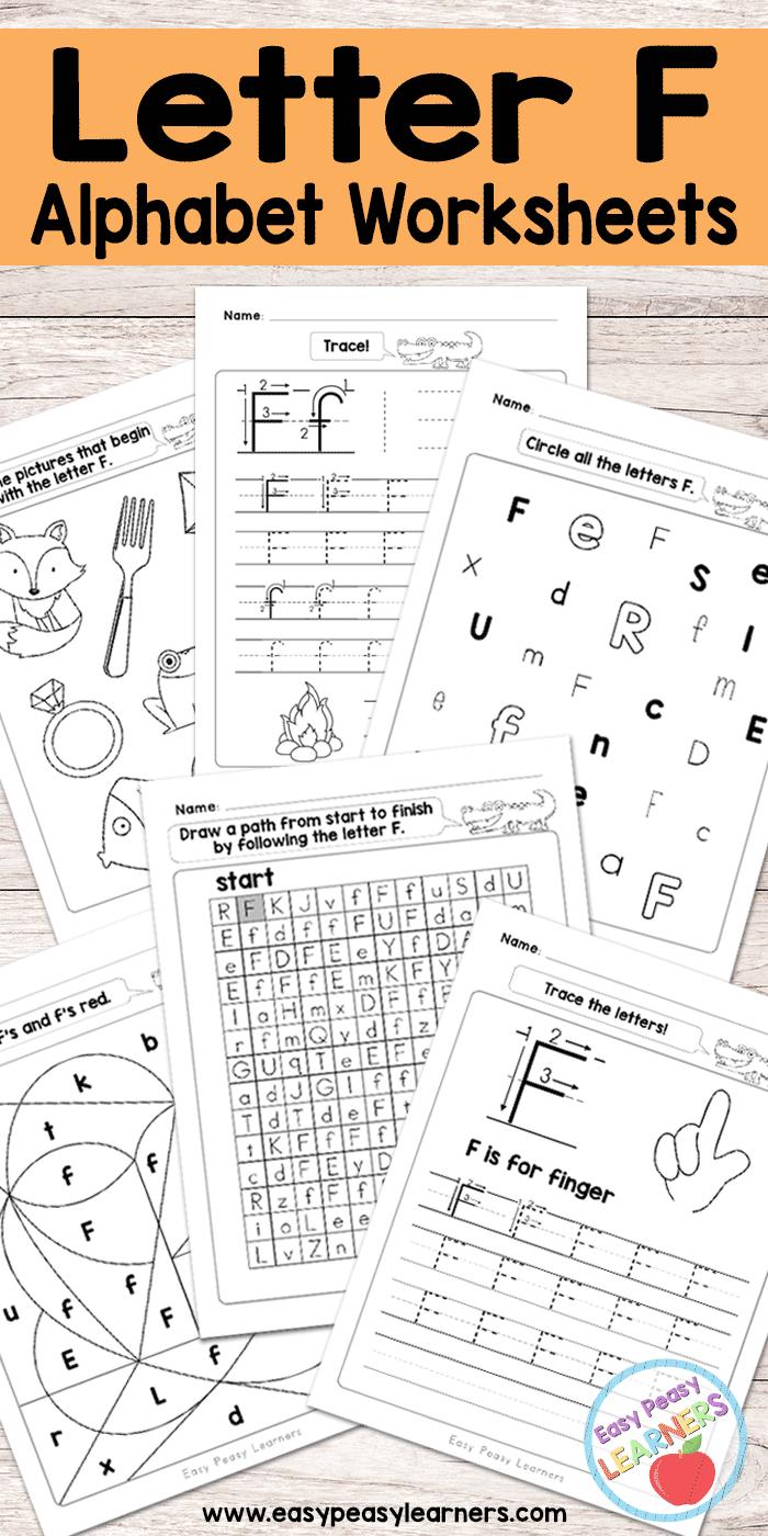 Free Printable Letter F Worksheets - Alphabet Worksheets Series ...