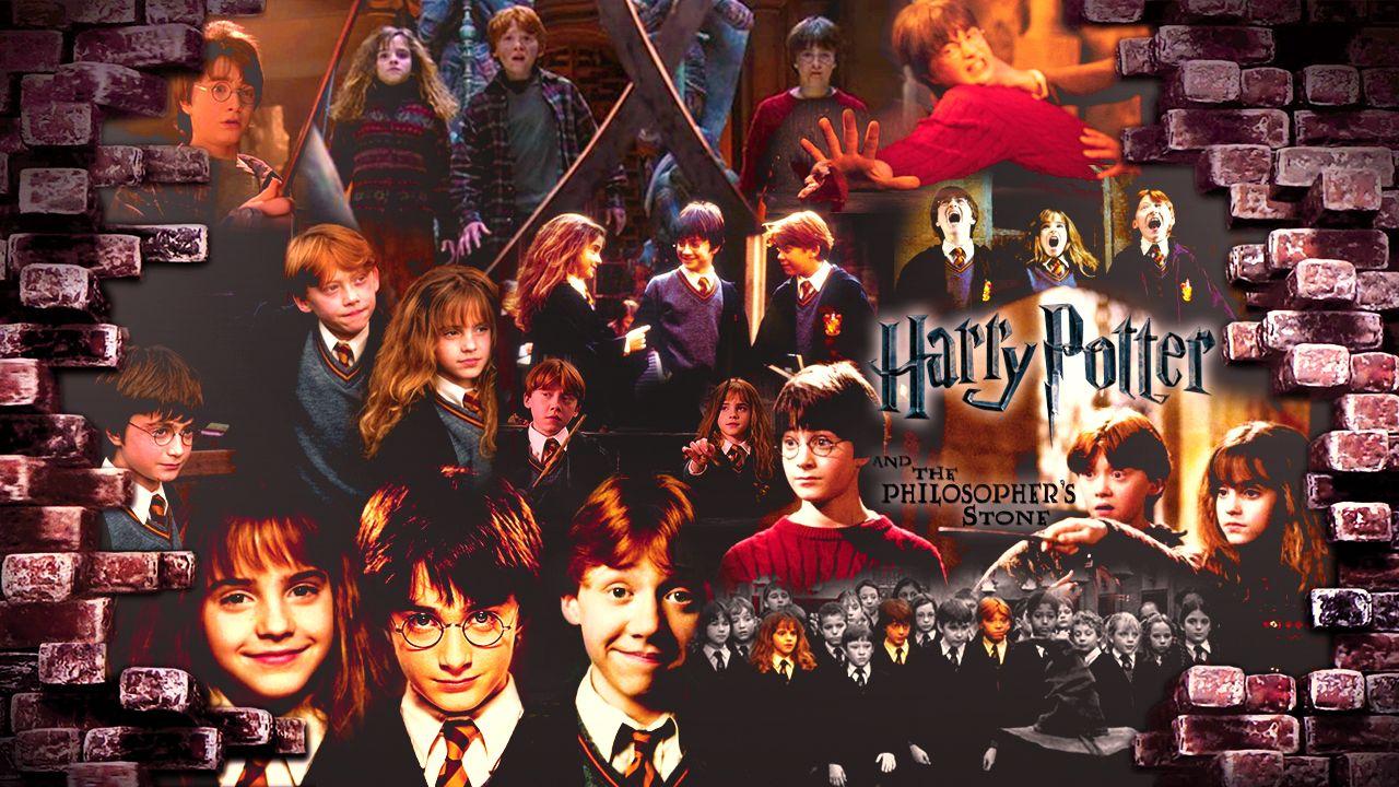 Harrypotter Philosopher S Stone Harry Potter Wallpaper Harry Hermione Ron Sorcerer S Stone Felsefe Tasi Harry Potter Poster Felsefe