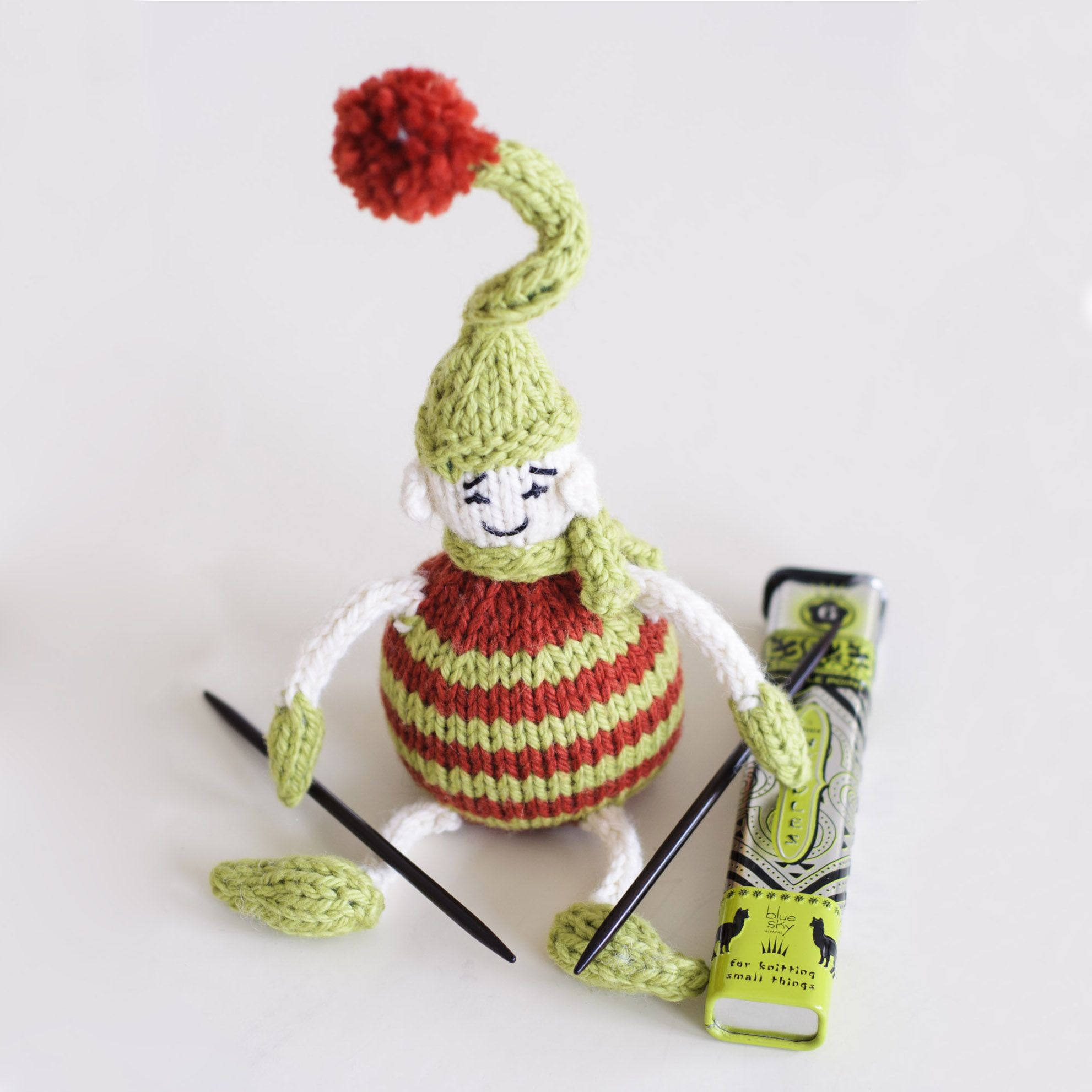Looks like our Tiny Elf has taken up knitting - what do you think he ...
