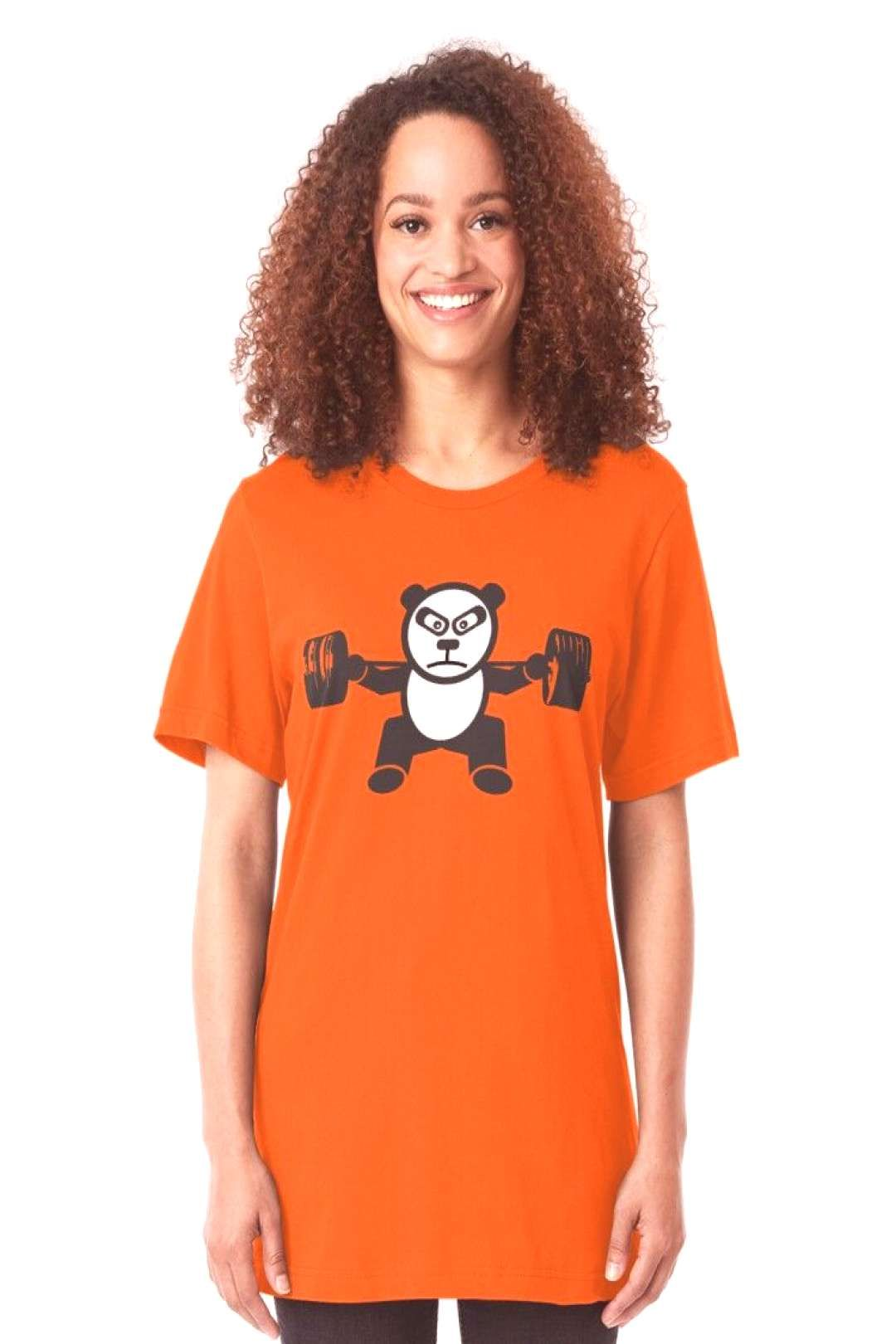 Cute Panda Bear Weightlifting  Squat  Leg Day Tshirt by mchanfitness Redb You can find We