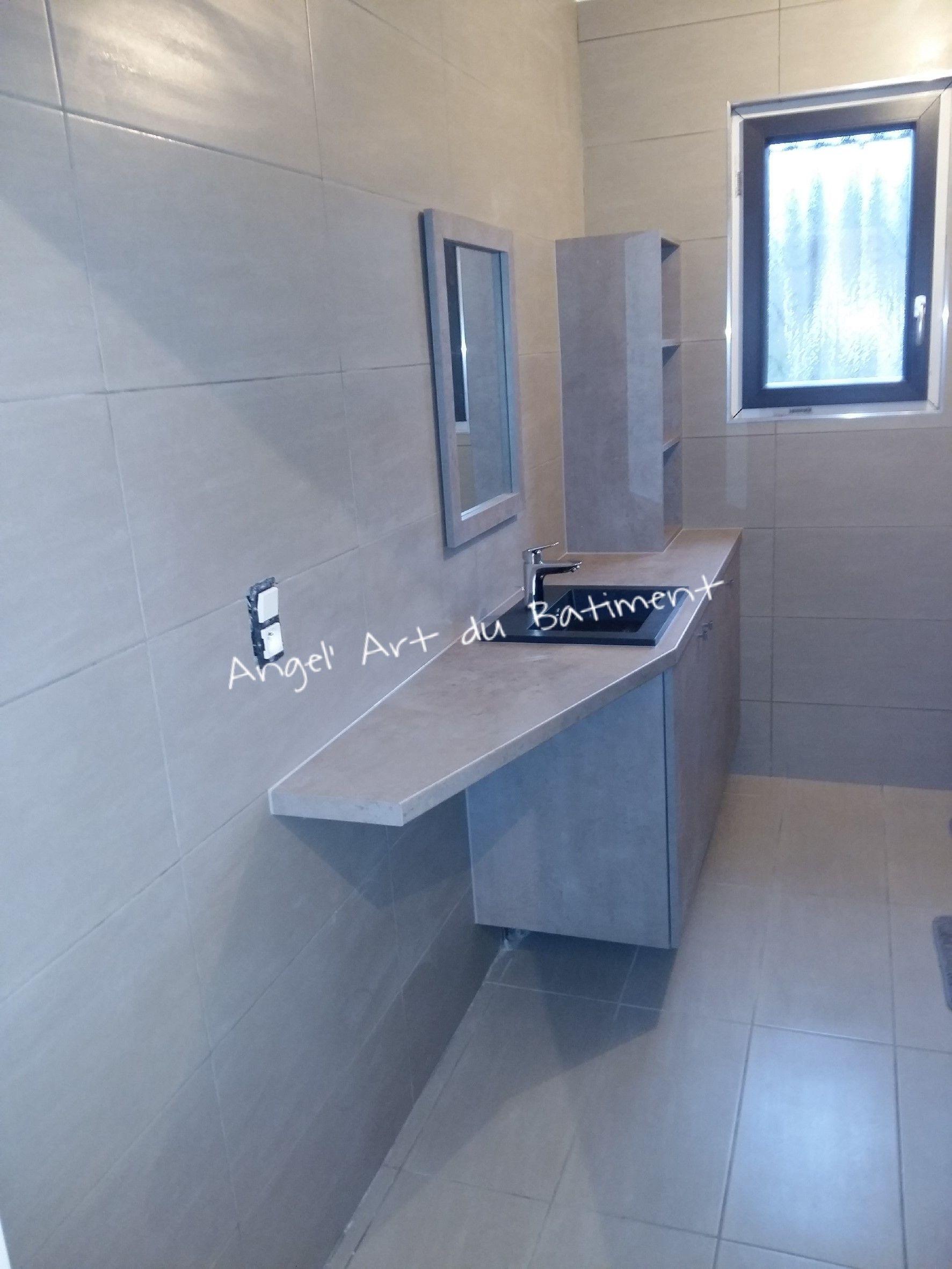 Création Meuble Salle de bain sur mesure en panneaux EGGER Coloris ...
