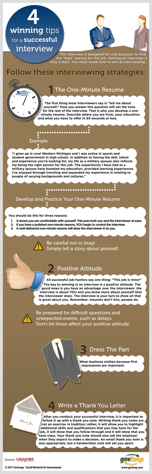 4 winning tips for a succesful interview infographic