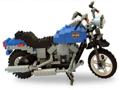 Lego-Harley, really cool!