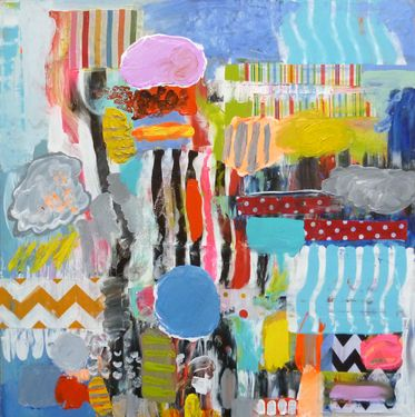 """Saatchi Art Artist Mary Robertson; Painting, """"Picnic at the Zoo"""" #art"""