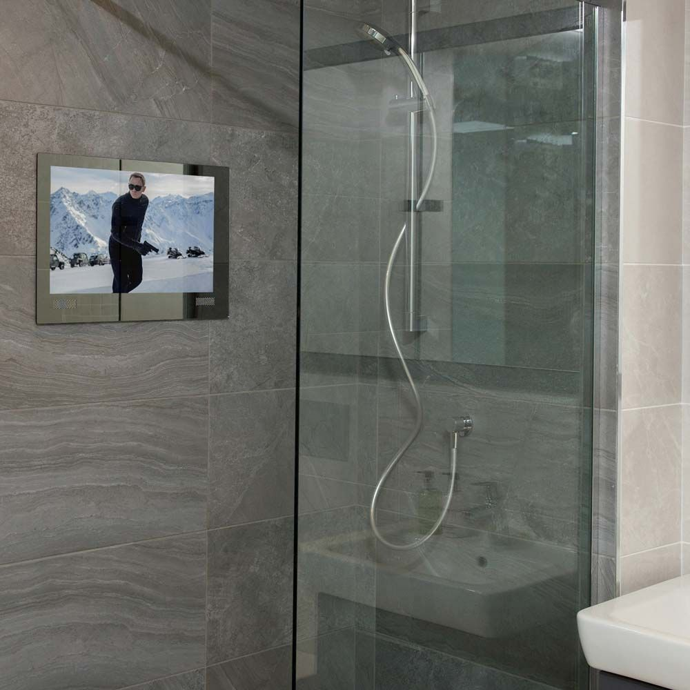 In the bathroom while taking a shower or a well deserved bubble bath - Tv Bathroom Foto Bathroom Tvs Bathroom Tv 15 2 Bathroom Tvs