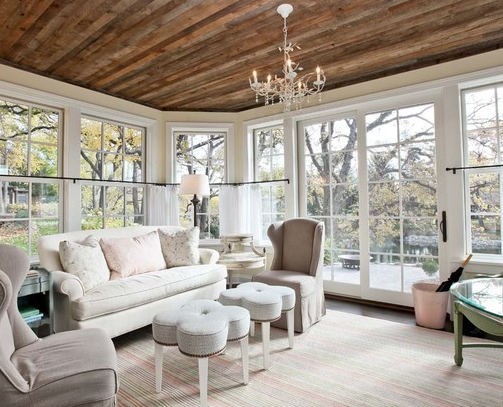 Sunroom Move White Couch In Barn Living Living Room Designs Living Room Ceiling