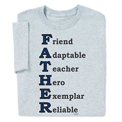 Father qualities t shirt by guygifter makes a thoughtful for Thoughtful gifts for dad from daughter