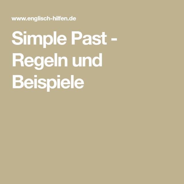 simple past regeln und beispiele ntzlich pinterest - Simple Past Beispiele