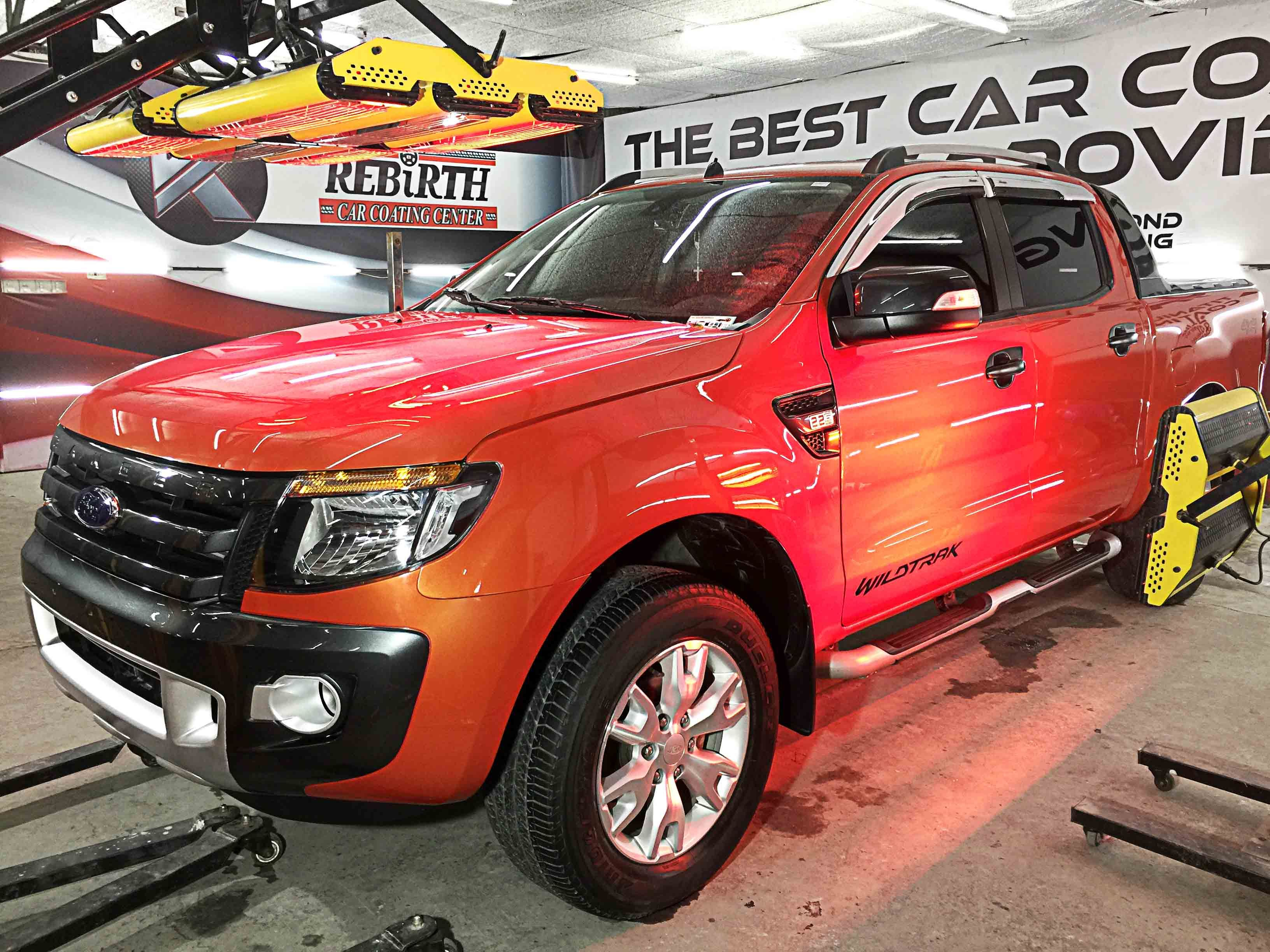 Rebirth Car Coating With Carbon Heating Ford Ranger Car Coating