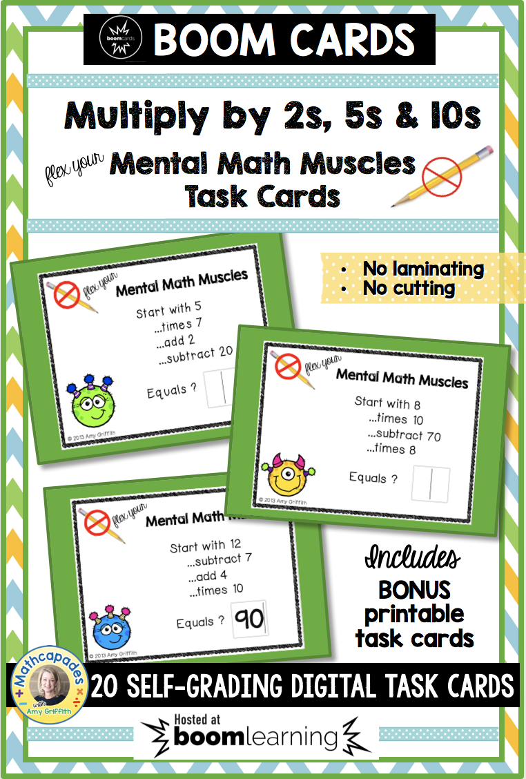 Mental Math - Multiplication by 2\'s, 5\'s, 10\'s | Mental maths ...