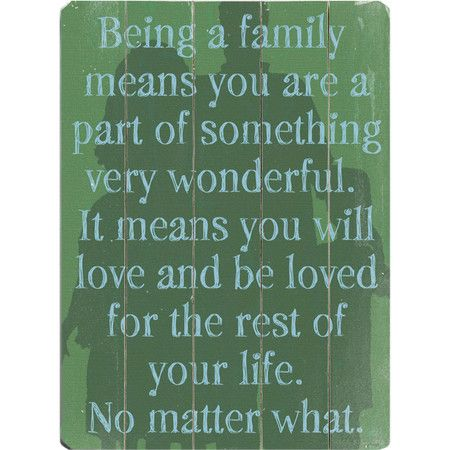 A Delightful Addition To Your Entryway Vignette This Planked Wood Wall Decor Showcases A Family Focused Message Product Quotes Family Wall Art Sweet Quotes
