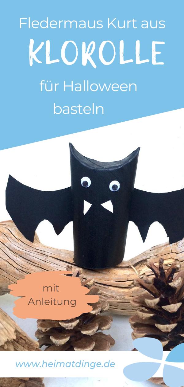 Nachhaltig basteln: Halloween Fledermaus Deko für deine Halloween Party