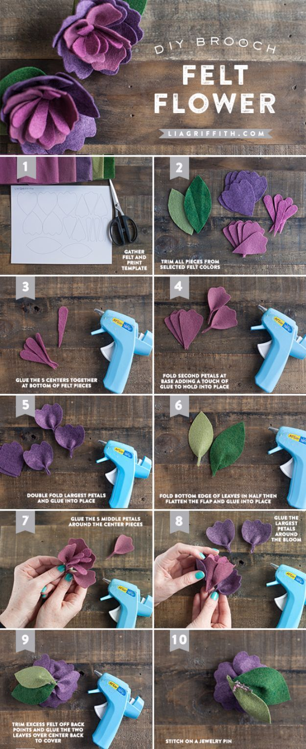 35 creatively thoughtful diy mothers day gifts tutorials creative diy mothers day gifts ideas mothers day felt flower thoughtful homemade gifts for mom handmade ideas from daughter son kids teens or baby solutioingenieria Image collections