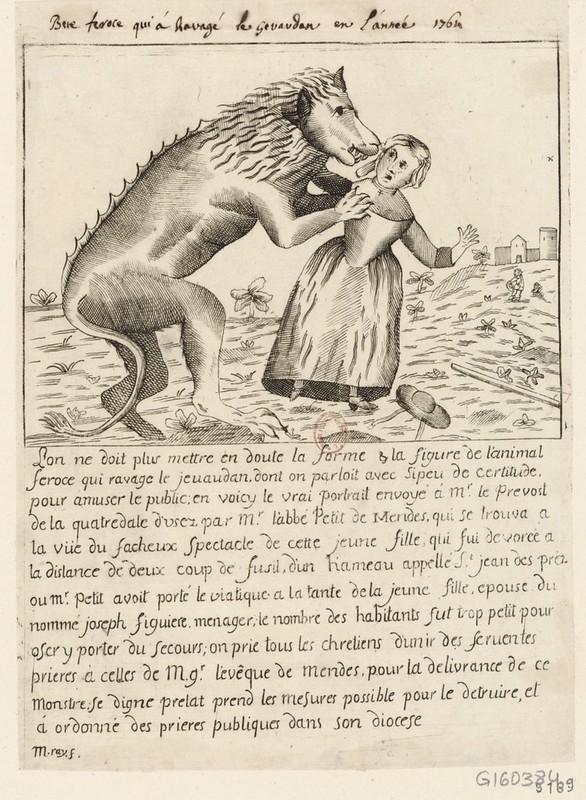 La Bete Du Gevaudan Vérité : gevaudan, vérité, Beast, Gévaudan, (1764–1767), Public, Domain, Review, Beast,, French, Illustration,, Werewolf, Illustration