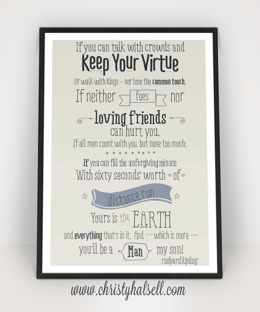 image regarding If by Rudyard Kipling Printable named Commencement Print - Rudyard Kiplings If free of charge down load