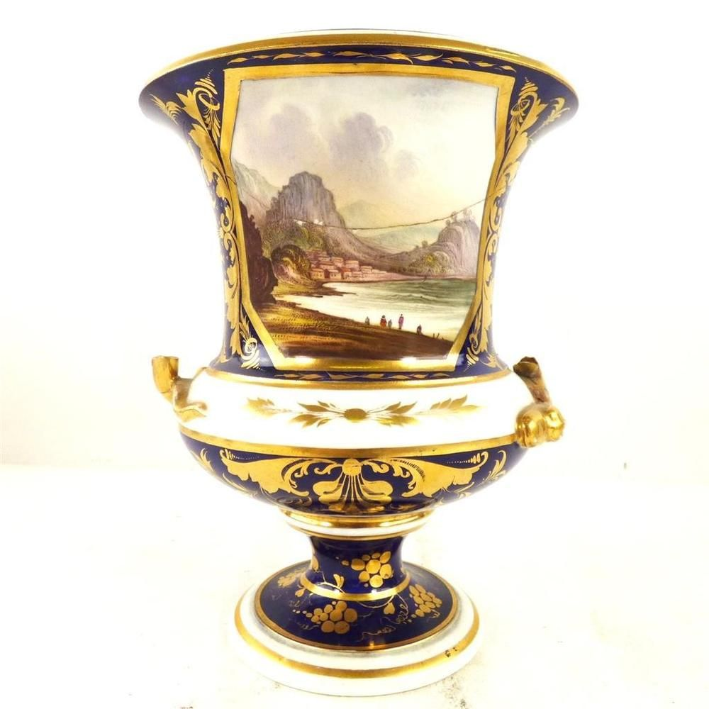 C1830 antique bloor derby porcelain campana vase view in italy f c1830 antique bloor derby porcelain campana vase view in italy f ebay royal crown reviewsmspy