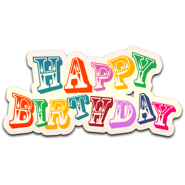 Colorful Happy Birthday PNG Image Happy