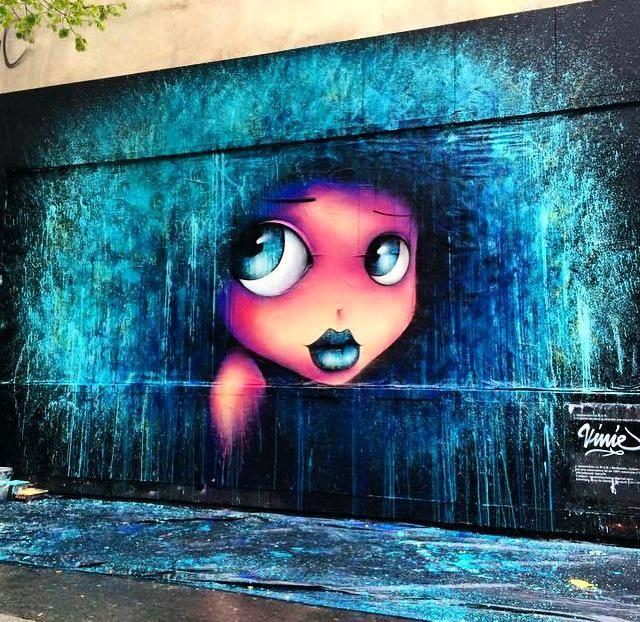New Street Art by VinieGraffiti in Paris #art #arte #graffiti #streetart