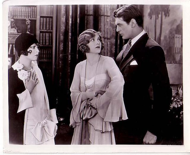 "Clara, Esther and Gary. 1927    Clara Bow, Esther Ralston and Gary Cooper in the silent film ""Children of Divorce"""