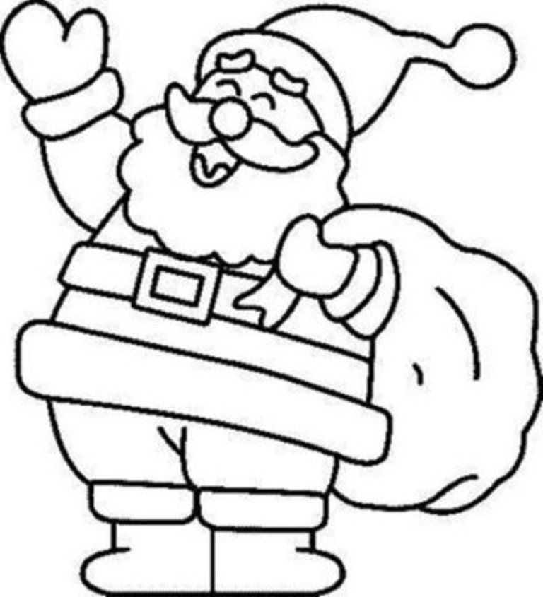 Santa free coloring pages for 768 845 for Coloring pages christmas santa