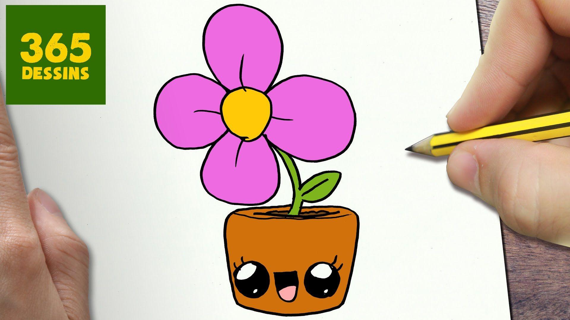 Dessin De Fleur Facile Etape Par Etape
