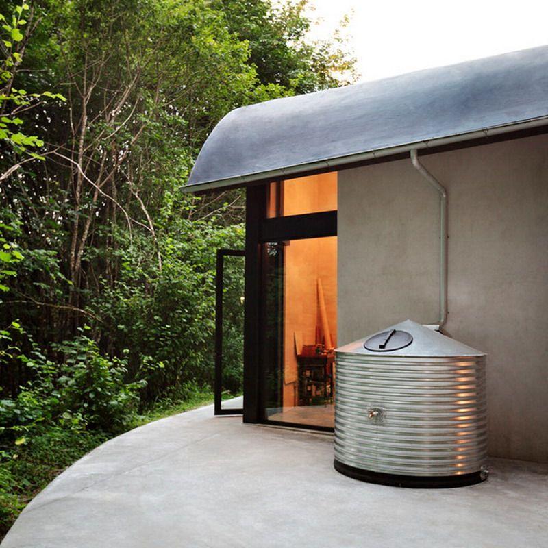 Nice Contemporary Small Outdoor Patio Water Tank Rain Barrel Rain Water Collection Rainwater Harvesting