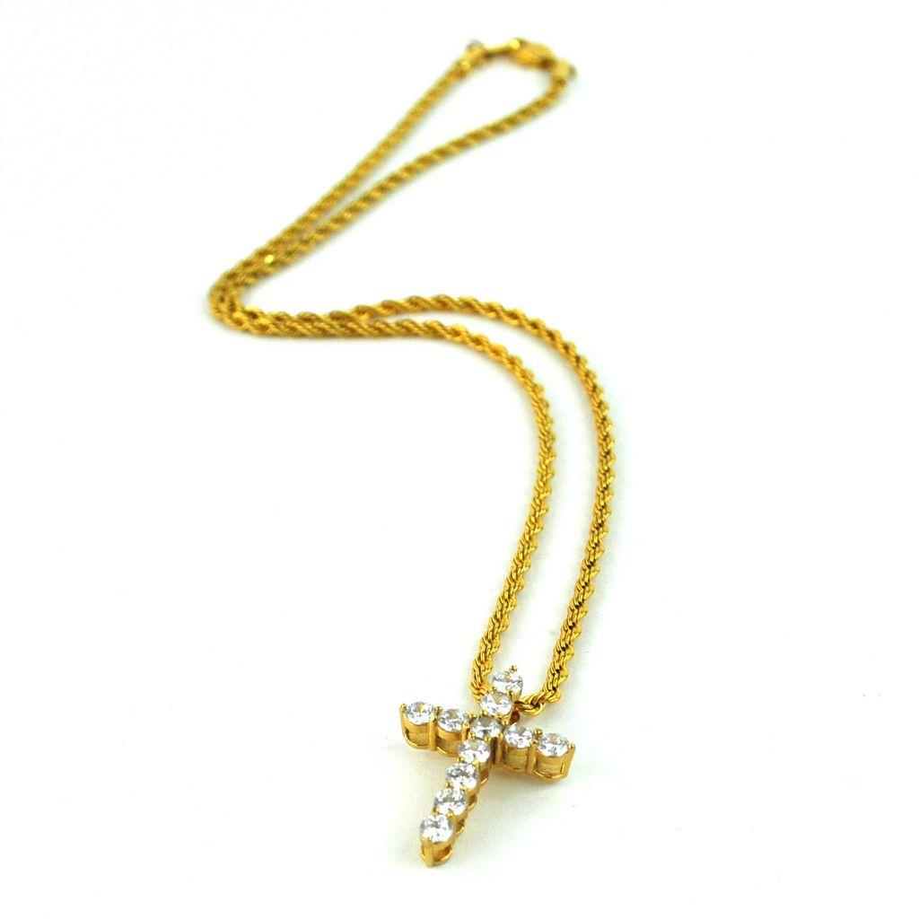Micro Diamond Cross Necklace Diamond cross necklaces Diamond
