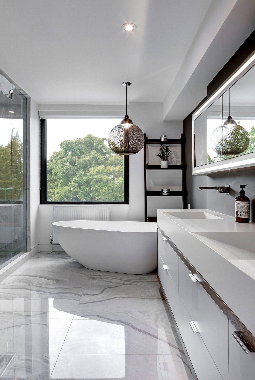54 Premium Modern White Bathroom With White Cabinets Ideas Bagni
