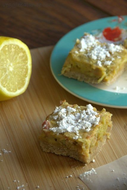 Lemon Rhubarb Bars - Gluten Free Recipes | Easy Recipes by ...