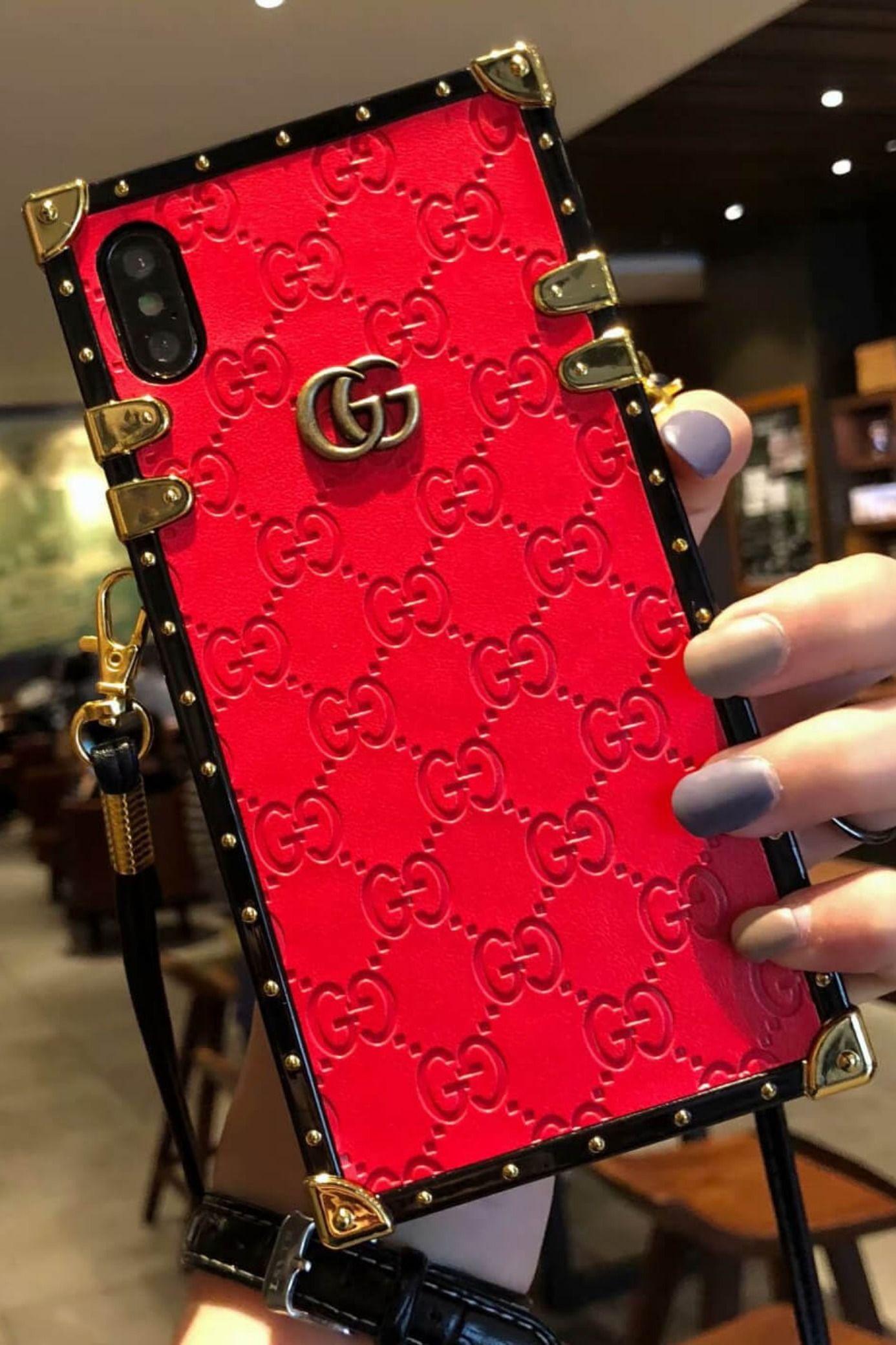 Gucci iphone case redblack 11 pro xs max xr 8 plus