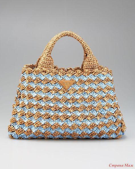 935810764a96a4 prada crochet bag | Crochet Bags | Bags, Free crochet bag, Crochet ...