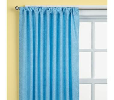 Blue Curtains Brighten Living Room For Winter