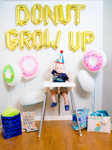 Donut Grow Up Birthday Party Cute Easy To Put Together Party Idea Perfect For A 1st Birthday Birthday Party Themes 1st Birthday Parties 1st Birthday Themes