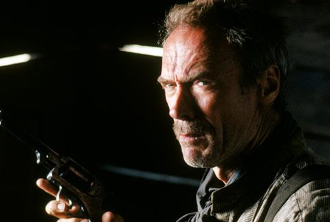 """Clint Eastwood as outlaw Bill Munny in the 1992 box-office blockbuster, """"Unforgiven,"""" which captured four Oscars, including """"Best Picture"""" and """"Best Director"""" for Eastwood."""