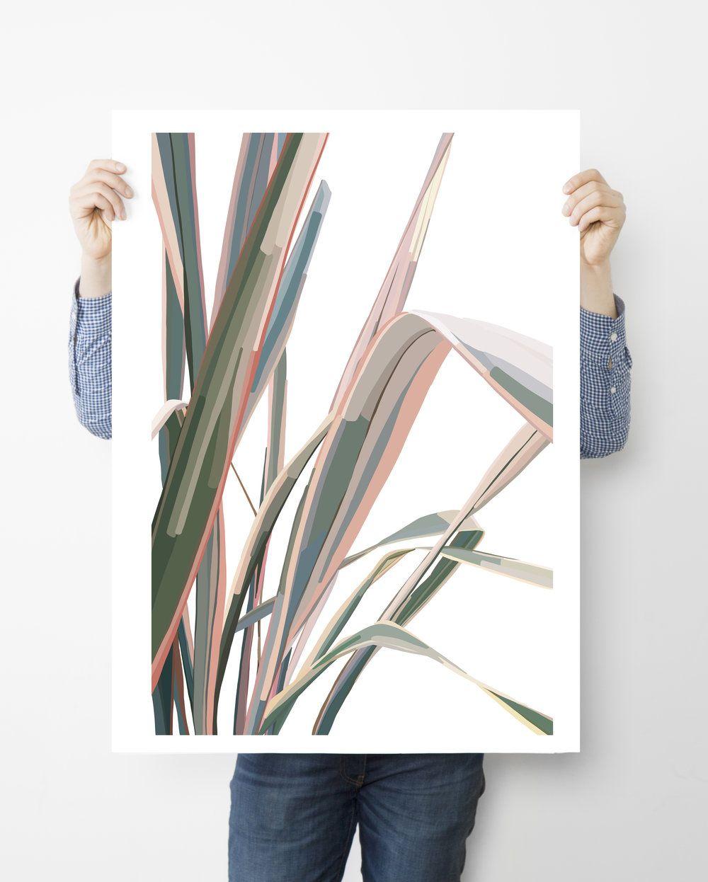 Pink & Green Leaves Pt. 3 — COLLEEN ELIZABETH ART