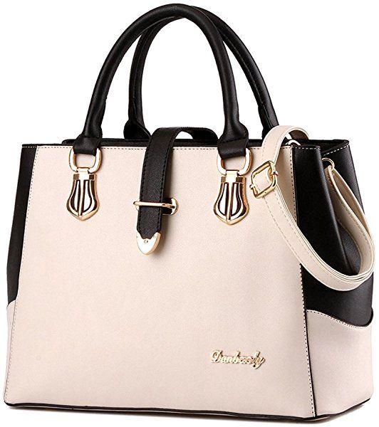 1e2d4de5d3 Top Handle Bags Women Purse and Handbags Ladies Satchel Tote Summer  Shoulder Bag from Nevenka (White)  Handbags  Amazon.com