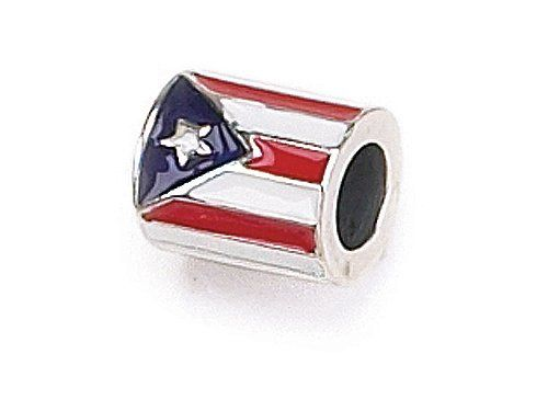 Must Have Amazon Com Zable Tm Sterling Silver Puerto Rican Flag Bead Charm Finejewelers Jewelry Bead Charms Silver Pandora