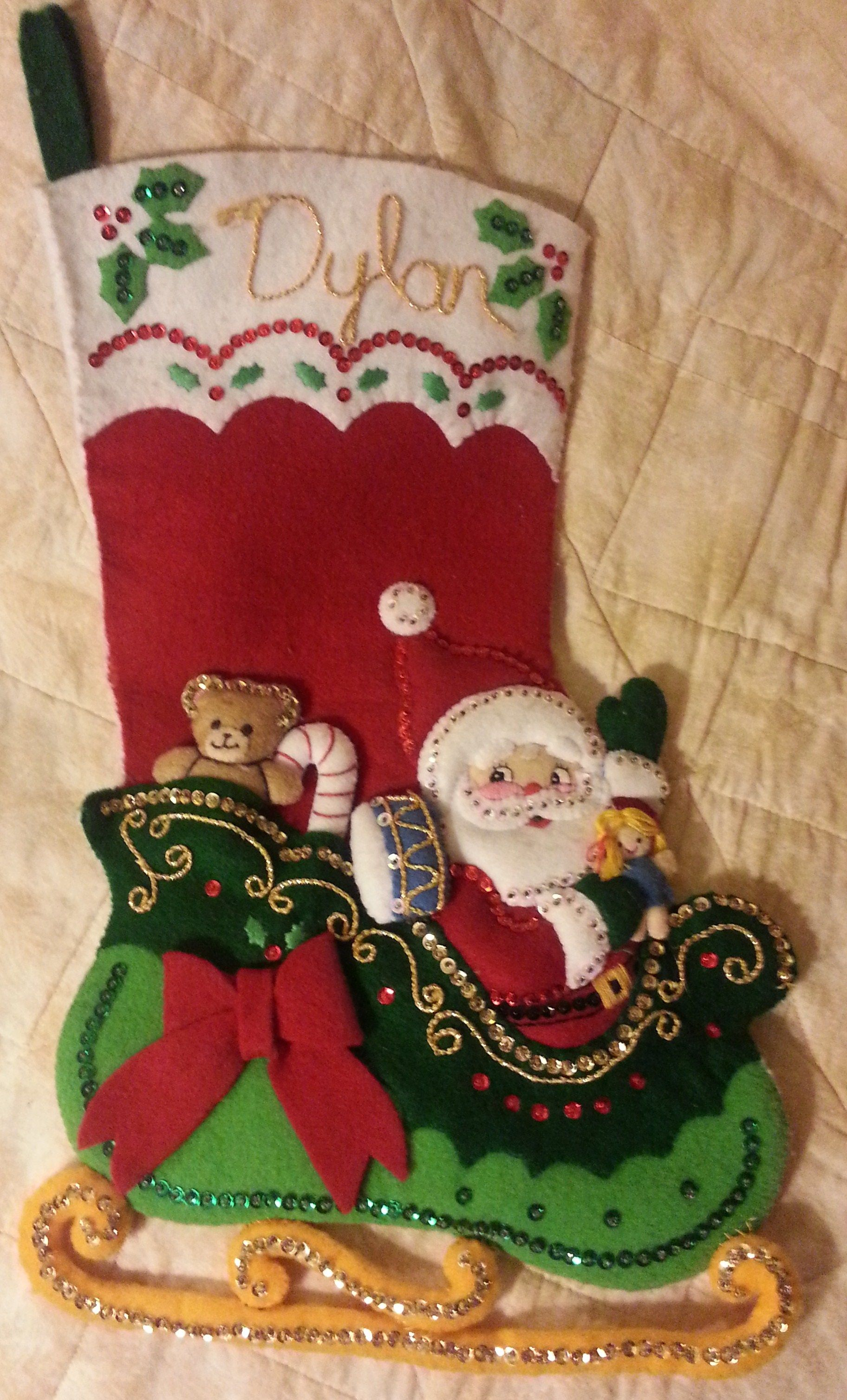 Bucilla Santa\'s Surprises stocking | My Bucilla projects | Pinterest ...