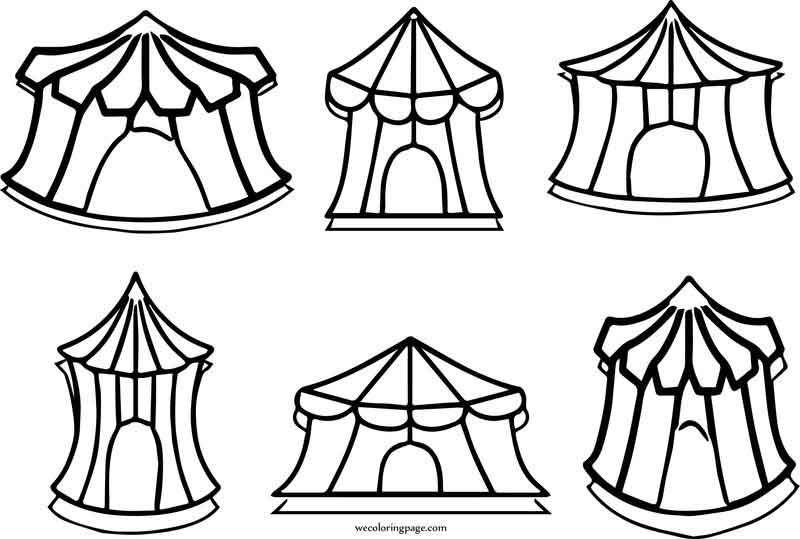 Big Top Circus Tent Coloring Page Big Top Circus Coloring Pages Circus Tent