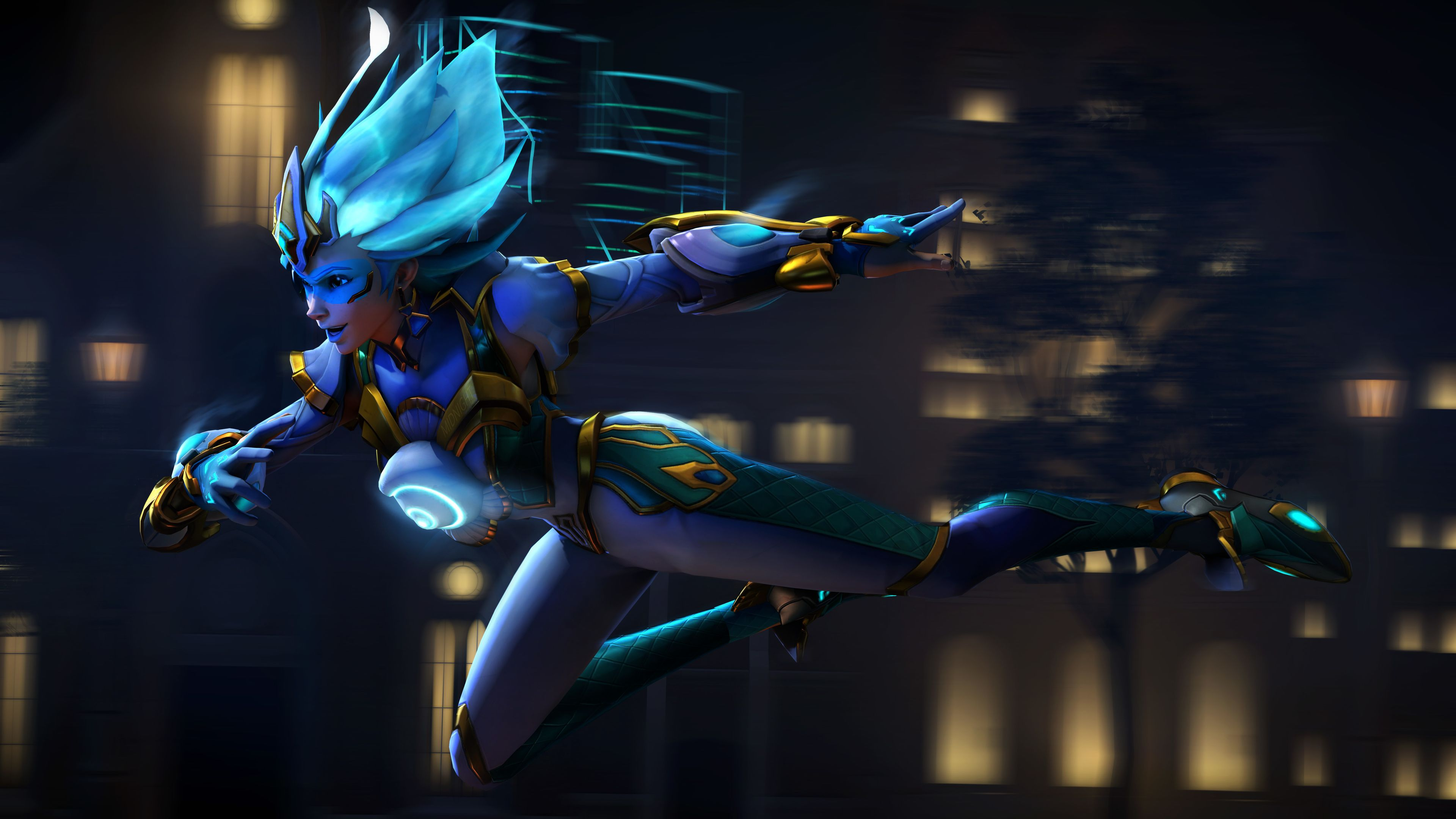 Tracer Overwatch Supersaiyanblue Digital Art 4k Xbox Games