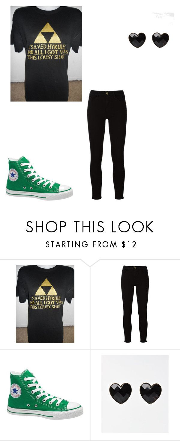 """""""Relaxing on a Friday."""" by nerd-i-am ❤ liked on Polyvore featuring Frame and Converse"""