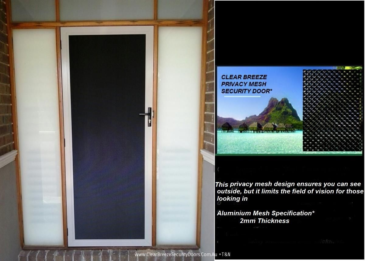 Clear Breeze Privacy Mesh Security Door Ideas For The House