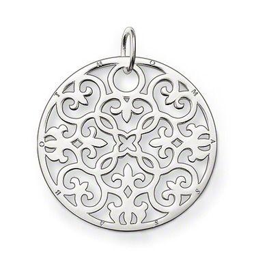 QUENTE! pendente de prata do ornamento de tp174 T.S., grande