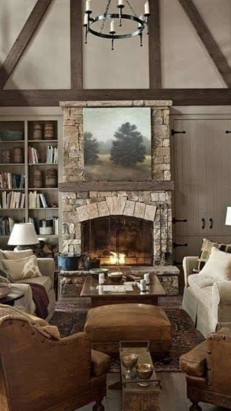 Pin By Jennifer Hesse On Home Rustic House Rustic Style Decor Rustic Lake Houses Living room rustic decor