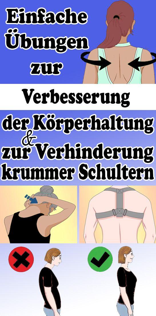 Einfache Ubungen Zur Verbesserung Der Korperhaltung Und Zur Verhinderung Krummer Schultern Leichte Fitness Gesundheit Und Fitness Joggen Lernen